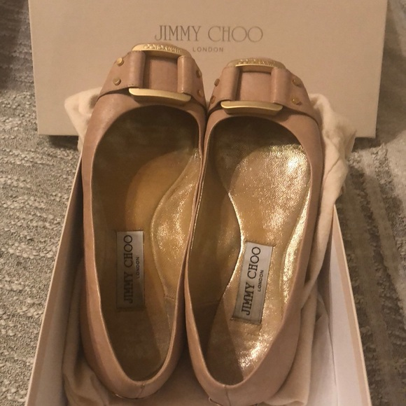 "01d524f62910 Jimmy Choo Shoes - Jimmy Choo ""Morse"" flats Sz 36 in nude pink"